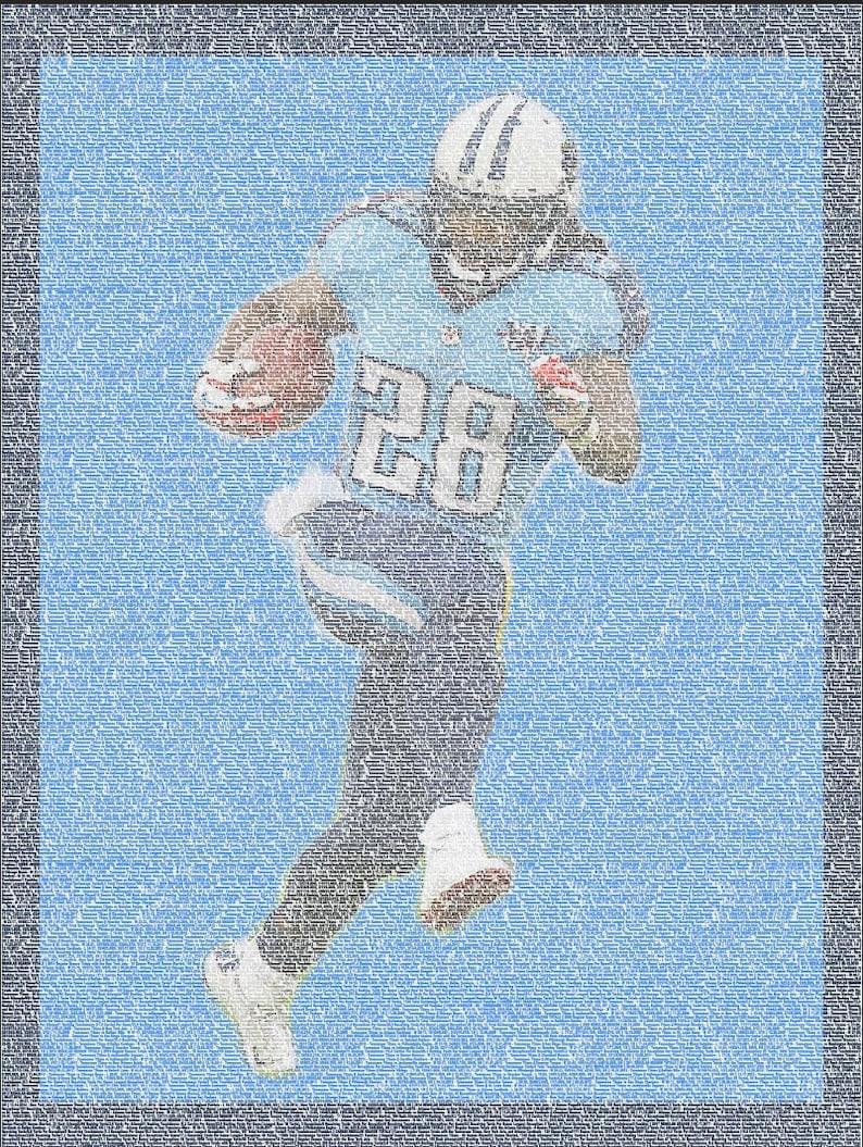 Chris Johnson Tennessee Titans NFL Stats Sport Print   Etsy