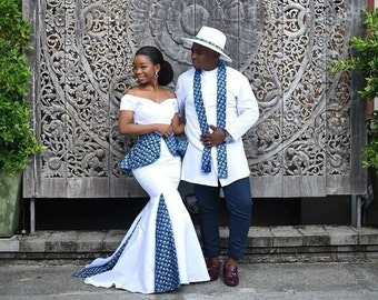 b322eb25ef0c9 White African Couple Clothing  Bride and Groom Outfit  Traditional Wedding   African Clothing  Prom Couple Outfit  Kitenge  Dashiki  Kente