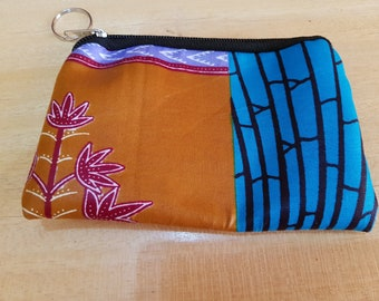 African Fabric Coin Purse