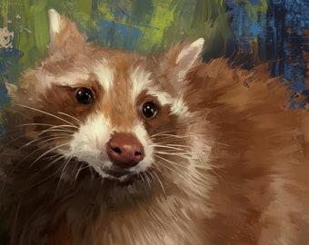 Cinnamon Portrait- part of preceeds for Critter Camp Sanctuary