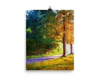 Vancouver in the Fall - Impressionistic Landscape print