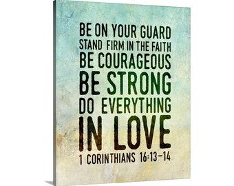 Corinthians 16 13 14 Etsy