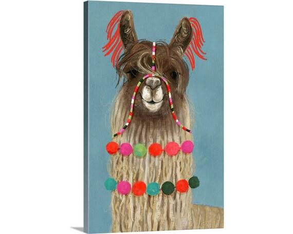 The Novogratz Pom Pom Llama II Canvas Art Print