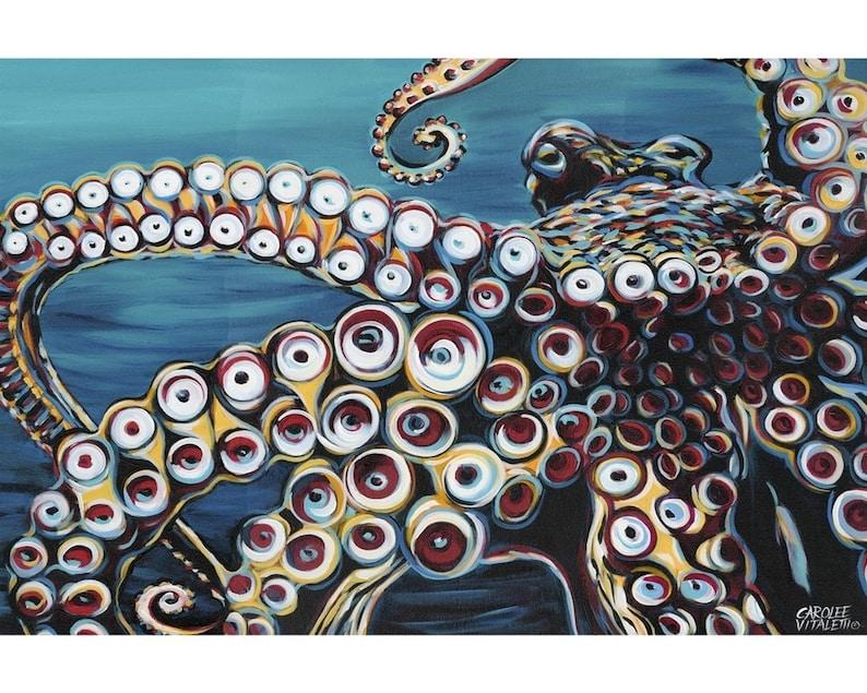 """Wild Octopus I"" Metal Print"