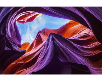Magical Lower Antelope Canyon - Metal Wall Art Print