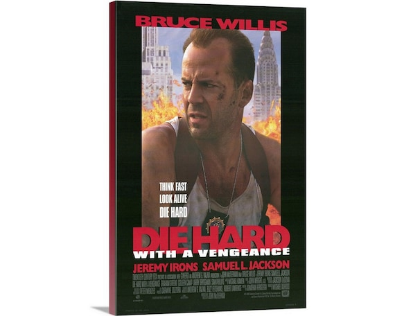 Die Hard With A Vengeance 1995 Canvas Wall Art Print Etsy