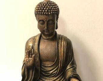 brass buddha statue etsy
