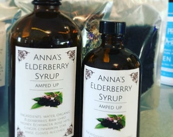 Amped Up Elderberry Syrup - 16 Ounce