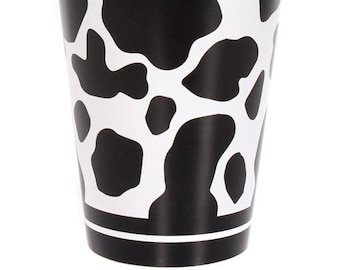 Cow Print Party Paper Cups/ Cow Birthday Baby Shower 1st Birthday/ Western Cowboy Cowgirl Farm Barnyard/ 8 Count - 9 oz.  sc 1 st  Etsy & Cow birthday party | Etsy