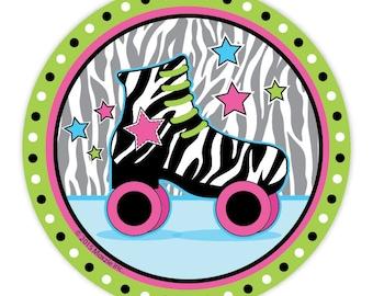 Retro Roller Skate Party Paper Plates/ Roller Skating Dessert Plates/ Skate Center Birthday/  sc 1 st  Etsy & 80u0027s paper plates   Etsy