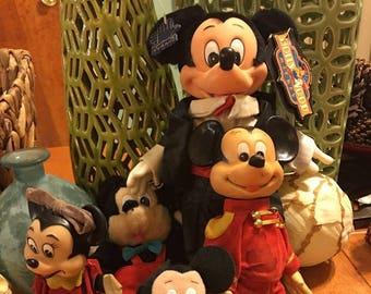 Walt Disney Mickey And Minnie Mouse Dolls Vintage