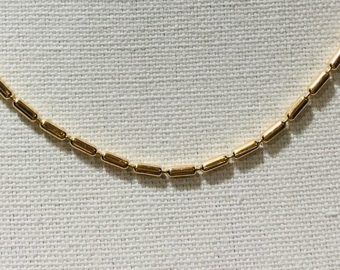 14k gold fill bar chain, layering necklace, 17.7 inches