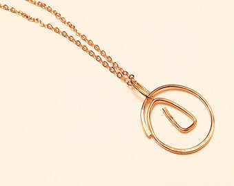 14k Gold fill hammered freeform circle pendant necklace on dainty 10k gold plated chain