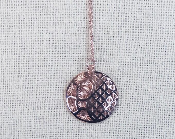 Wholesale 10 of rose gold minimalist flower of life pendant necklaces