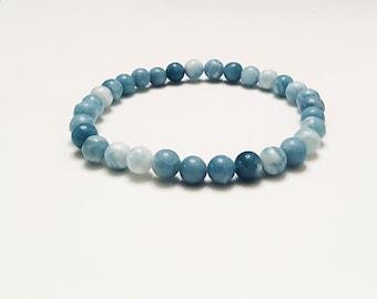 6mm larimar quartz beaded bracelet, stretch