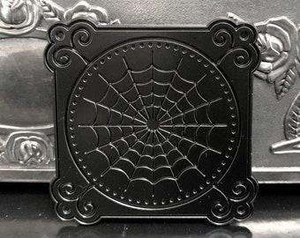 Winchester Web Pin Goth Spiderweb Spider Spooky Black Brooch