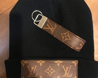 44ab4a5ecfd Louis Vuitton Monogram Beanie   Matching Keychain Custom Set