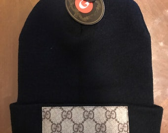 3836be08770 Gucci custom knit beanie hat