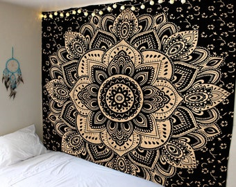 b7ee770dfc Cotton Golden Tapestry Wall Hanging Wall Tapestry Wall Hanging Mandala  Tapestry Hippie Tapestry Tapestry Mandala Bohemian Indian Tapestry