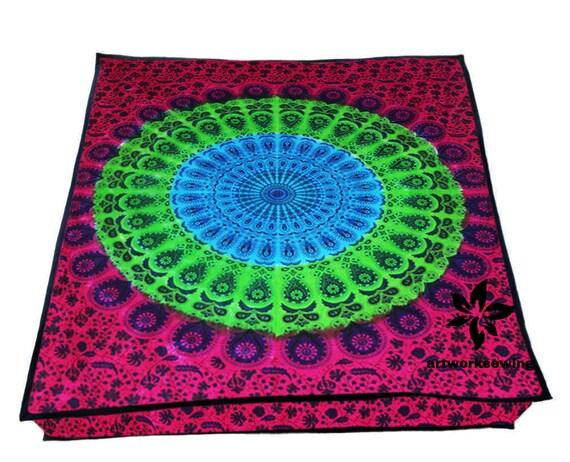 Indische Kissen.Kahala Home Dekor Leben Indische Kissen Mandala Boho Hippie Yoga Decken Boden Decken Große Osmanischen Boden Kissen Kissenbezug