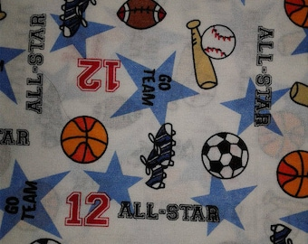 All Star Sport Cotton Fabric by the Yard