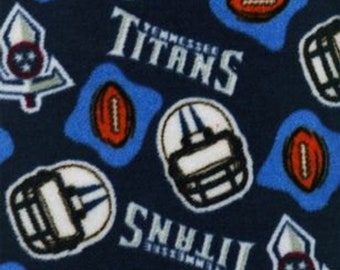 Tennessee Titans Fleece Fabric by the Yard