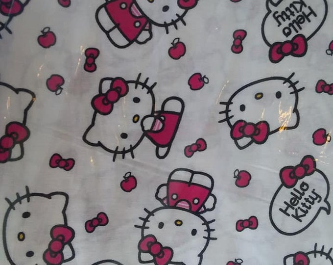 Hello Kitty Cotton Fabric by the Yard