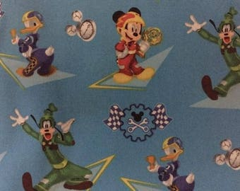 Mickey Mouse Roadster Racers Cotton Fabric by the Yard