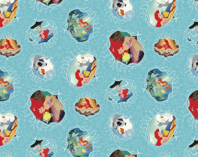Little Mermaid Cotton Fabric by the Yard