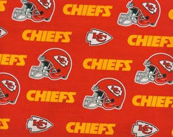 Kansas City Chiefs Cotton Fabric by the Yard