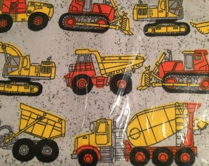 Construction Flannel Fabric by the Yard