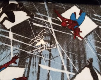 Spiderman Fleece Fabric by the Yard