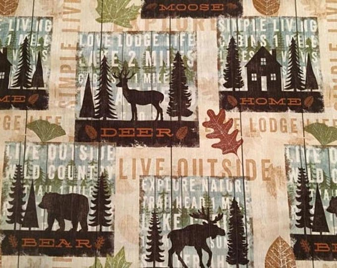 Living In Nature Cotton Fabric by the Yard