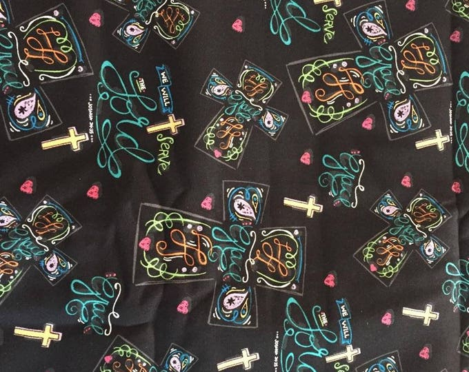 Crosses Cotton Fabric by the Yard