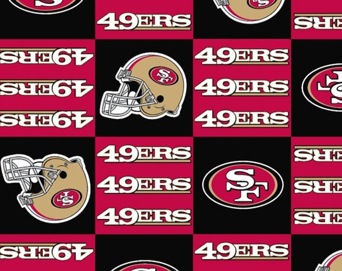 San Francisco 49ers patch Fleece Fabric by the Yard