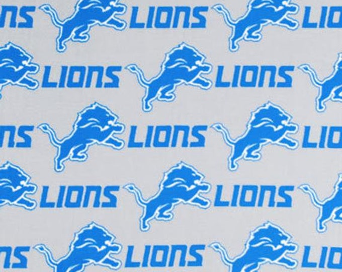 Detroit Lions Fleece Fabric by the Yard