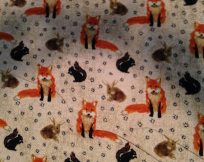Fox Flannel Fabric by the Yard