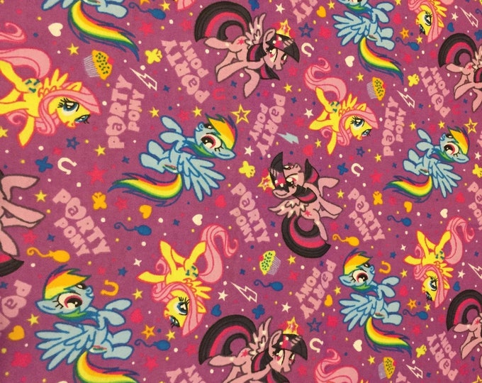 My Little Pony Flannel Fabric by the Yard