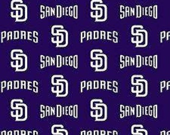 San Diego Padres Cotton Fabric by the Yard