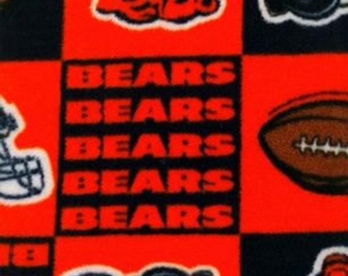 Chicago Bears Fleece Fabric by the Yard