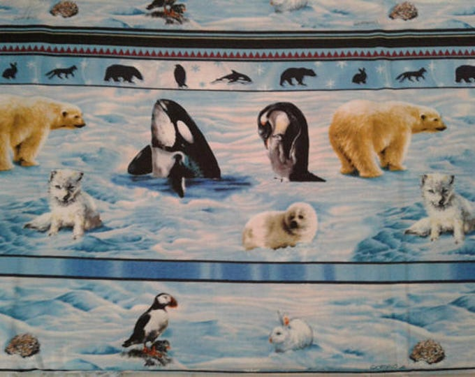 Artic Wildlife Cotton Fabric by the Yard