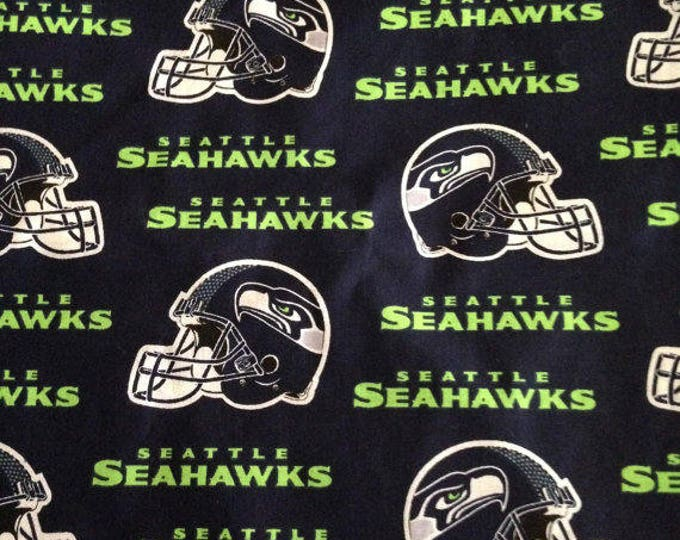 Seattle Seahawks Cotton Fabric by the Yard