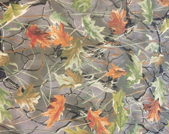 Camoflauge Cotton Fabric by the Yard