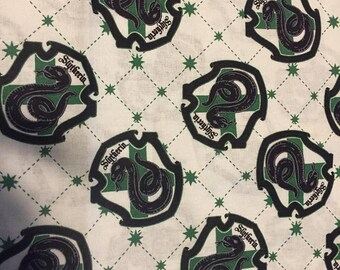Harry Potter (Slytherin House) Cotton Fabric by the Yard