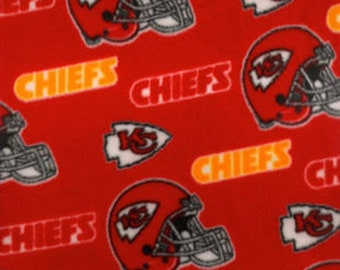 Kansas City Chiefs Fleece Fabric by the Yard