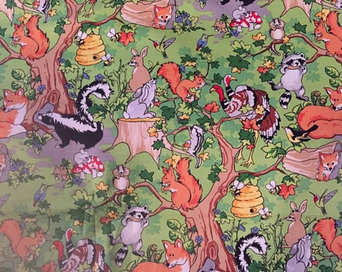 Nursery Animals Cotton Fabric by the Yard