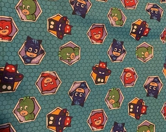 PJ Masks Cotton Fabric by the Yard