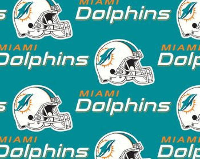 Miami Dolphins Cotton Fabric by the Yard