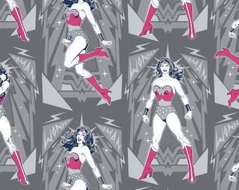 Wonder Woman Cotton Fabric by the Yard