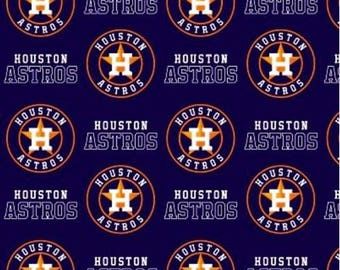 Houston Astros Cotton Fabric by the Yard